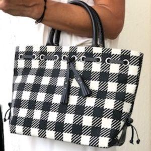 Dooney & Bourke canvas and leather handbag